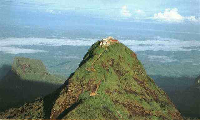 sripadaya means the foot print of lord buddha and it is at samanala